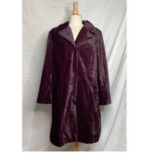 Isaac Mizrahi Live Faux Fur Long Sleeve Snap Coat